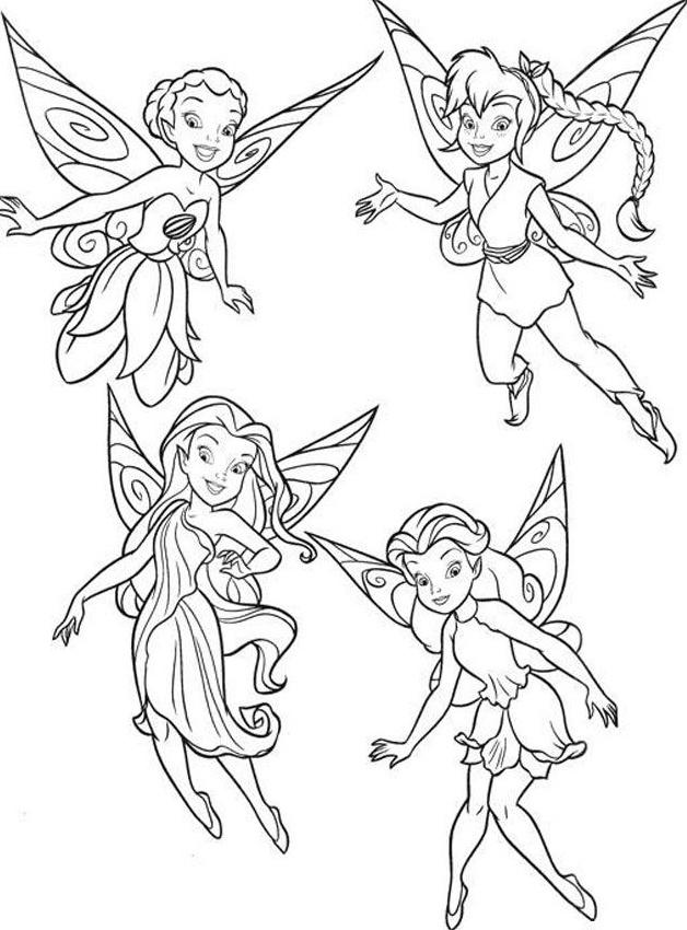 Tinkerbell Ve Arkadaşları Boyama üst Ev Boyama Sayfası