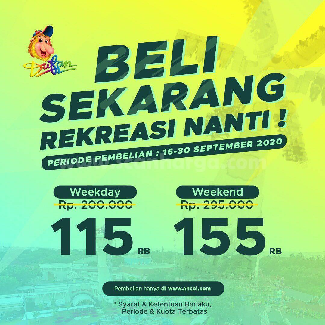 Promo DUFAN: Beli Sekarang Rekreasi Nanti – Harga Spesial Tiket Masuk mulai Rp 115.000