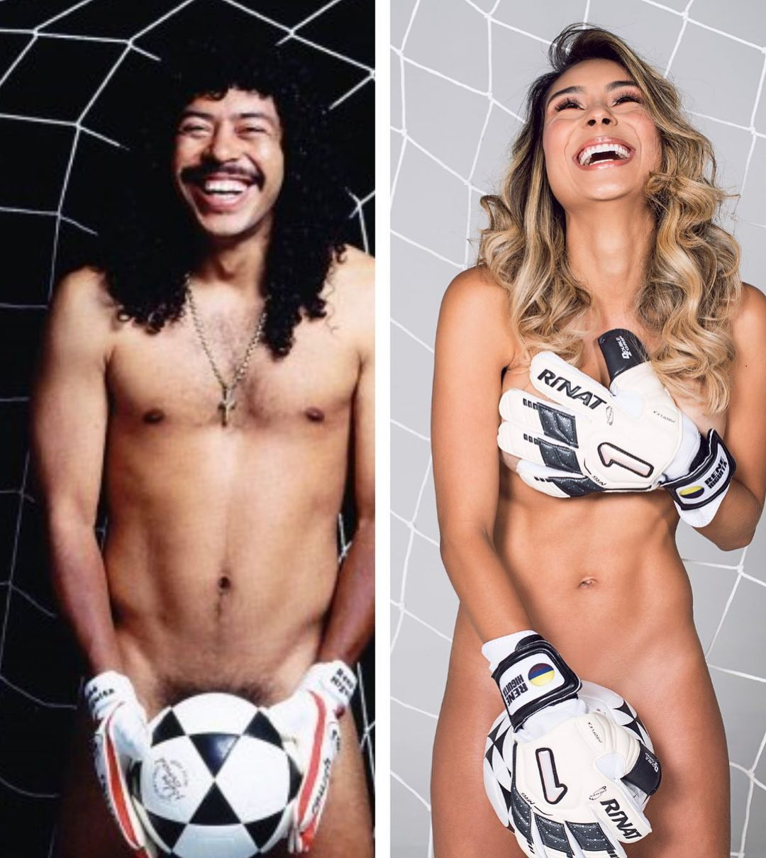 Pamela Higuita poses for a raunchy naked photoshoot