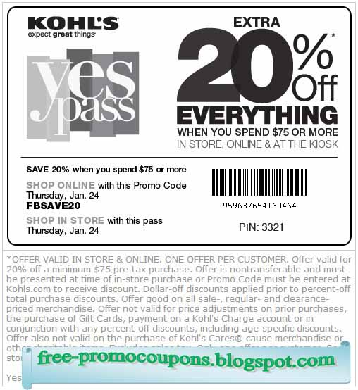 Option 1: Get a Kohl's Card Kohl's offers a 30% off coupon about once every month exclusively to their card holders. If you are not a Kohl's card holder, you can get one at cfds.ml Kohl's may send direct mail with the coupon code inside, however not all card holders may get the same mailer, and thus some may only receive 15% or 20% off coupons.