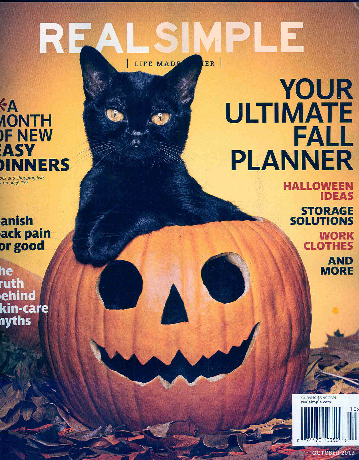 Vintage Halloween Collector: Real Simple October 2013 Issue