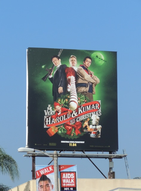 A Very Harold & Kumar 3D Christmas billboard