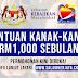 Bantuan Kanak-Kanak Sehingga RM1,000 Sebulan Tahun 2021