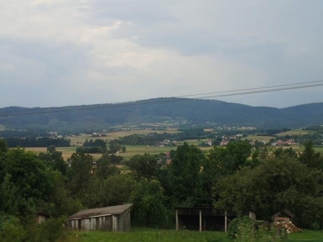 Widoki z drogi Tarnów-Jasło-Krosno, Pogórze Ciężkowickie (Liwocz)