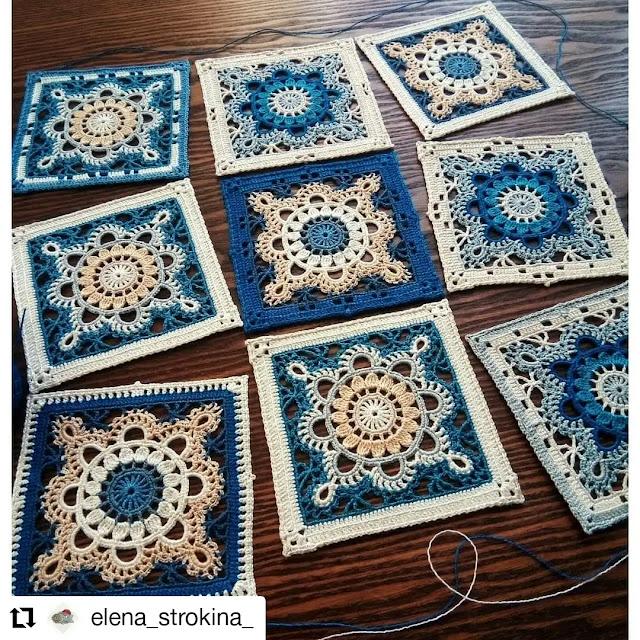 Patrón de Hermoso Granny Square a Crochet