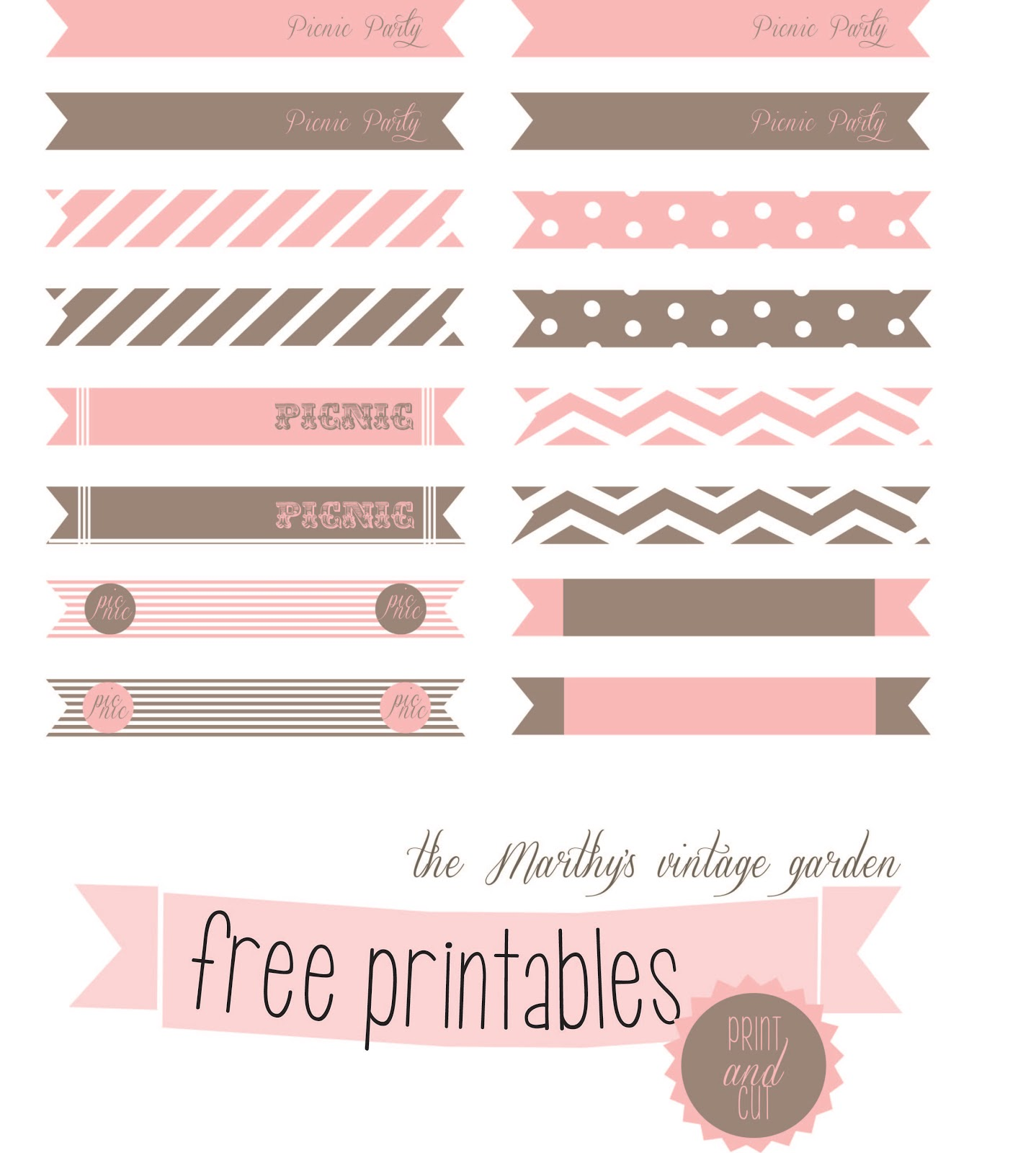 The Marthy S Vintage Garden Free Printables Tags