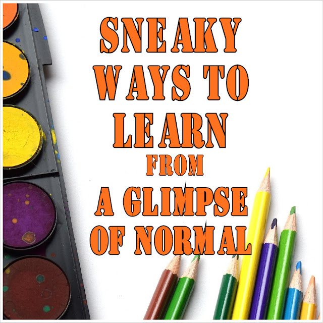 Here are some sneaky ways to get in some learning time from A Glimpse of Normal.