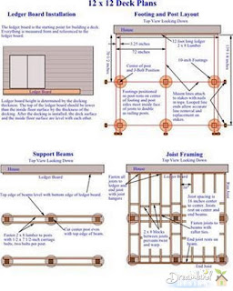 12 x 12 DIY Inexpensive Deck Plans Page 1