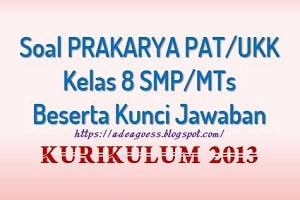 Download Soal PAT/UKK PRAKARYA Kelas 8 SMP/MTs K-13 Beserta Kunci Jawaban
