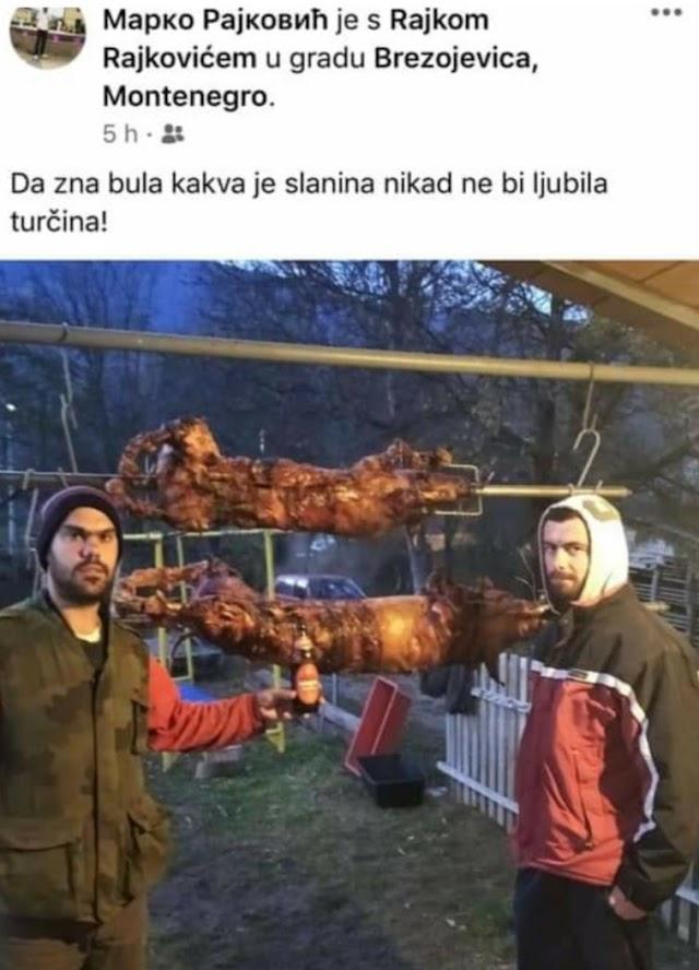 Primitivizam i govor mržnje na FB: Rajkovići uz pečeno prase provocirali muslimane u Plavu