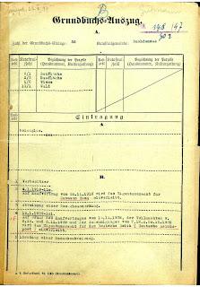 Grundbuchauszug, 1947