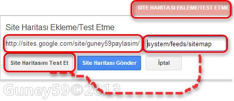 Site hatitasını test et sekmesi