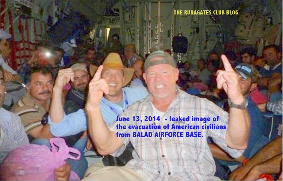 Evacuation by C130 of American civilians from BALAD (Iraq) AIRFORCE BASE - June 13, 2014
