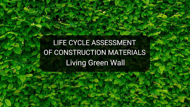 life cycle assessment of construction materials