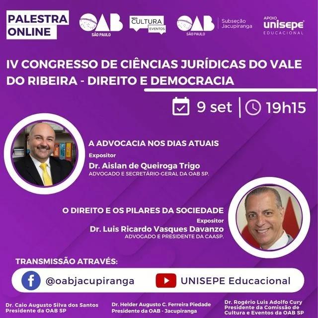 IV Congresso de Ciências Jurídicas do Vale do Ribeira