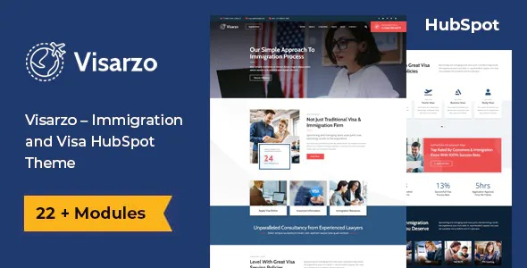 Best Immigration and Visa Consulting HubSpot Theme