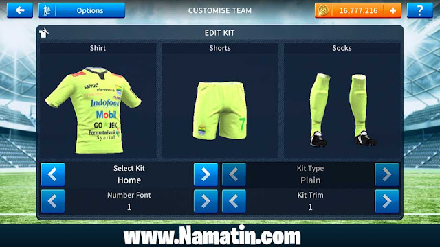 Kostum Dream League Soccer Persib 2019