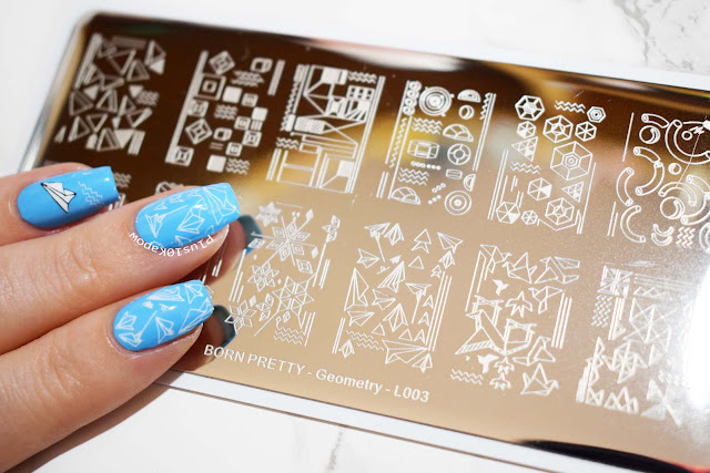 Born pretty STore Geomtery L003 Stamping plate paper planes nail art Wikkid Polish Hello Sailor Pastel Neon