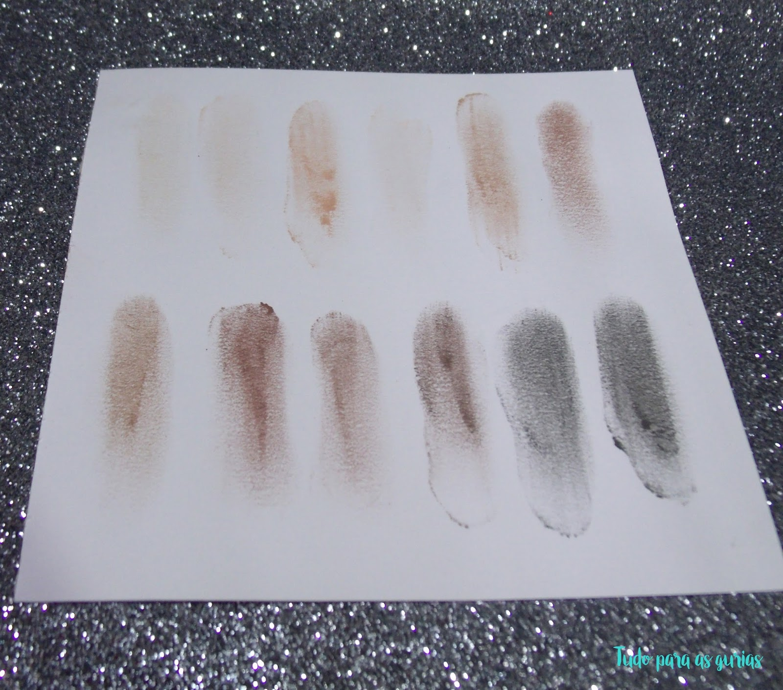 Paleta Mega Nude da Luisance; paleta; nude; swatche