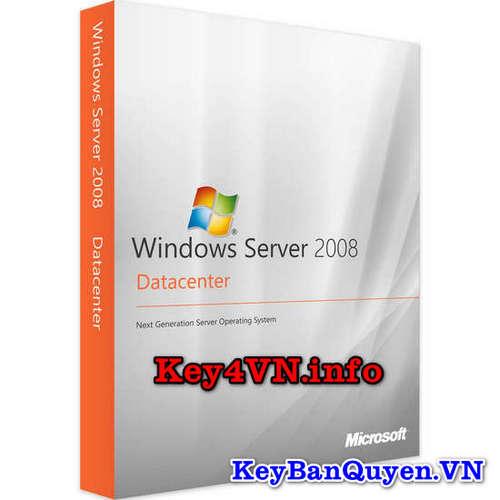 Mua bán key bản quyền Windows Server 2008 R2 Datacenter.