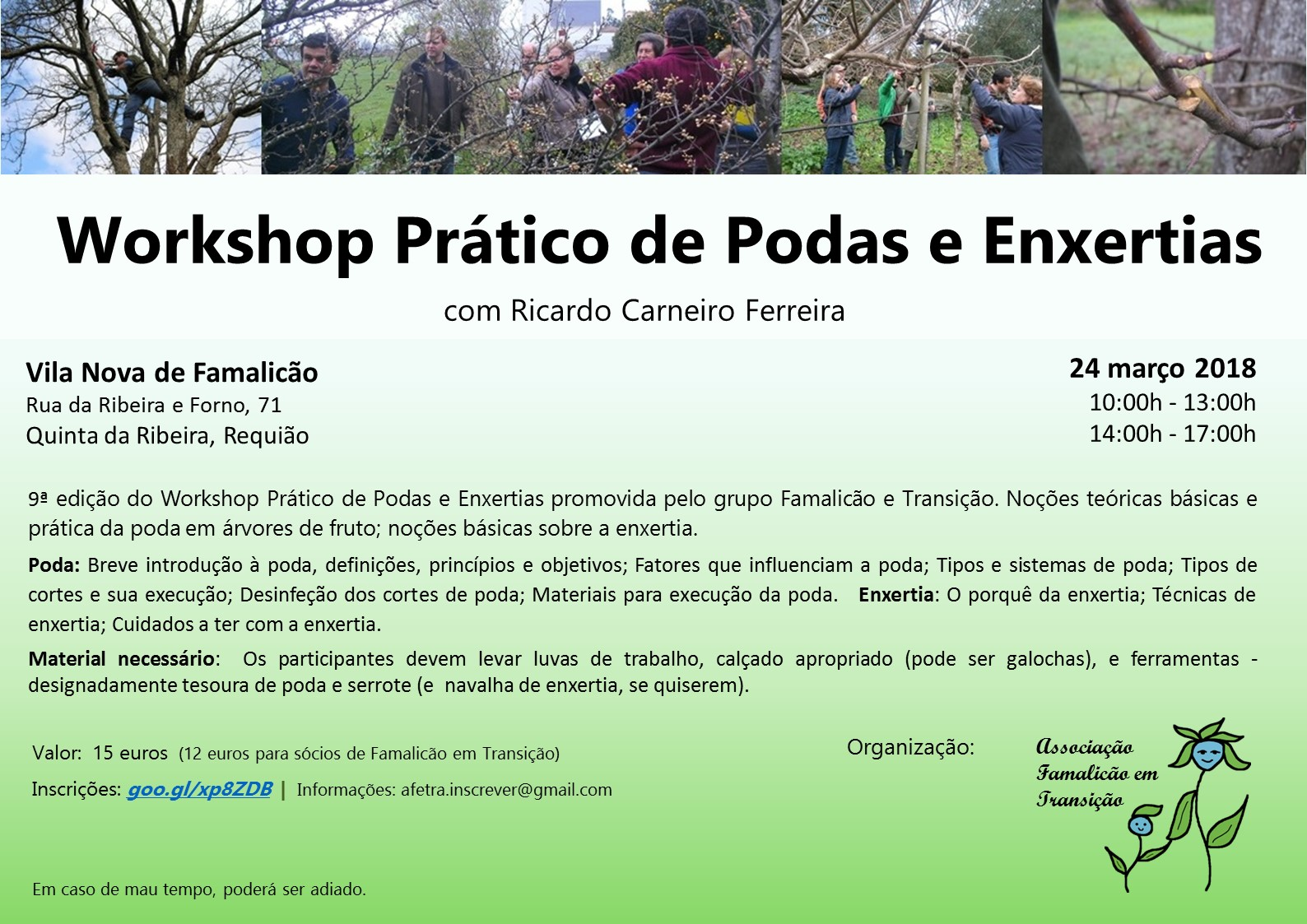 Workshop  Podas e Enxertias