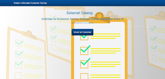 PHP Kuisioner Survey Online dengan CI
