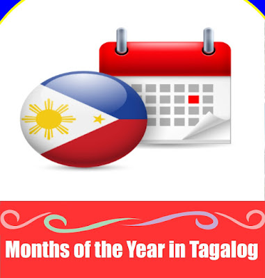 Months of the Year Word List in Tagalog