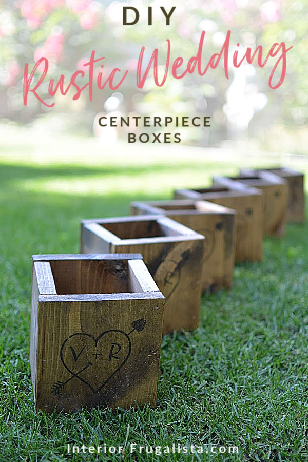 How to make simple and adorable rustic wooden carved love heart wedding centerpiece boxes, a DIY budget wedding decor idea with country-style charm. #rusticweddingdecor #budgetweddingdecor #diyweddingdecor