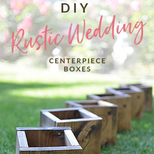 Rustic Wooden Love Heart Wedding Centerpiece Boxes