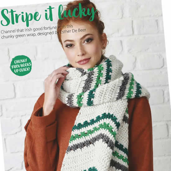 Simply Crochet 92, Electric Avenue Shawl | Happy in Red