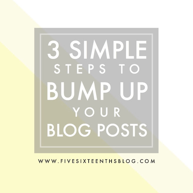 Bump Up Your Blog Posts