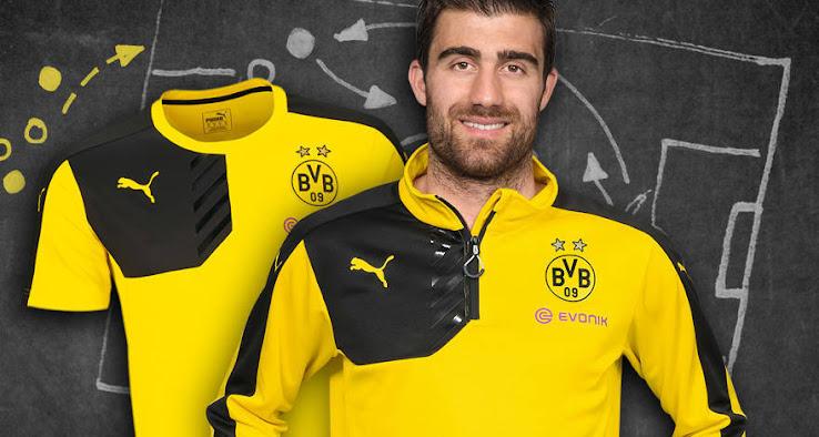 new product 60509 88d39 Puma Borussia Dortmund 15-16 Training Shirts Released ...