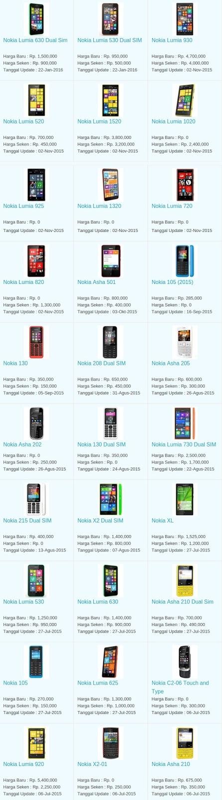 Daftar Harga Hp Terbaru Nokia Mei 2016