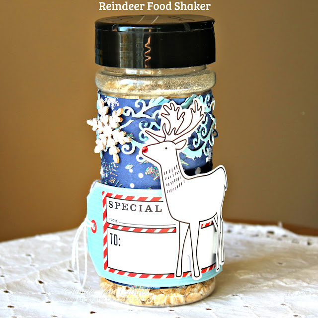 Reindeer Food Shaker featuring Falala.Collection by BoBunny designed by Rhonda Van Ginkel