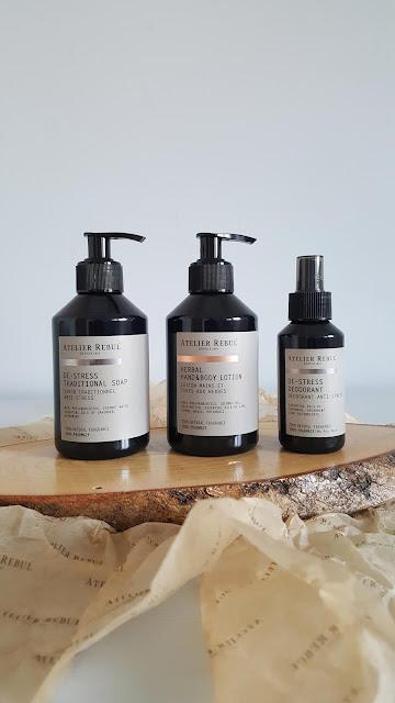Atelier Rebul Pharmacy Koleksiyonu | De-Stress Geleneksel Sabun, De-Srress Doğal Deodorant Ve Herbal El&Vücut Losyonu