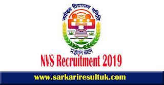 NVS Recruitment 2019 - 2370, LDC, TGT, PGT & Other Posts