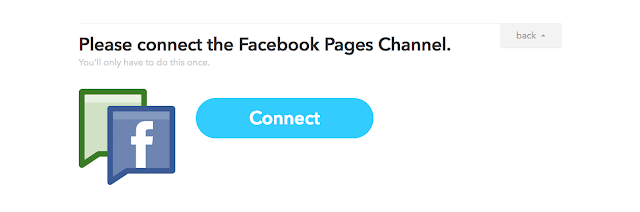 connect facebook pages channel on IFTTT