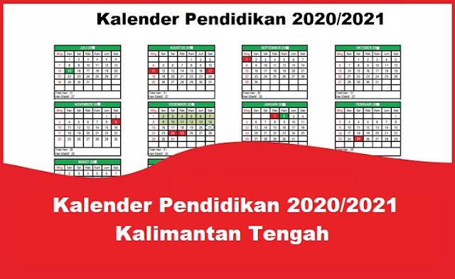 Kalender Pendidikan 2020/2021 Kalimantan Tengah