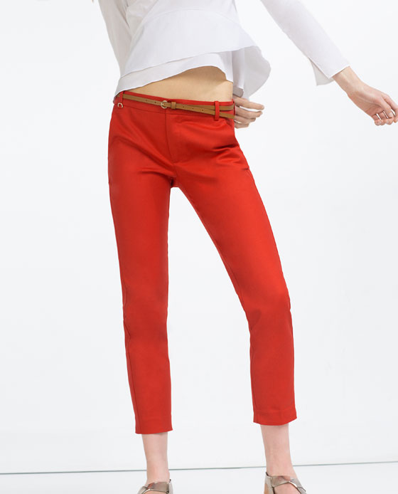 Spring/Summer Capsule Wardrobe: Five Bottoms for Work from Honey and Smoke Studio // Mid-Rise Trousers with Belt from Zara