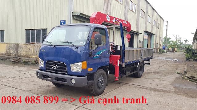 Xe tải Hyundai 110XL gắn cẩu 3 tấn