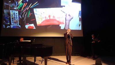 Théo Akola en concert dessiné au festival BD6né
