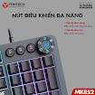 Bàn phím cơ Gaming FANTECH MK852 Led RGB Blue/ Brown Switch - Hàng phân phối chính hãng - Bảo hành 12 tháng 1 đổi 1