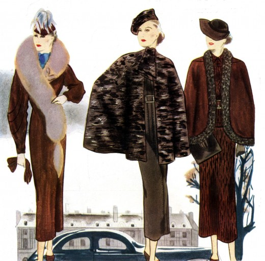 Dear Golden Vintage 1930s French Fashions