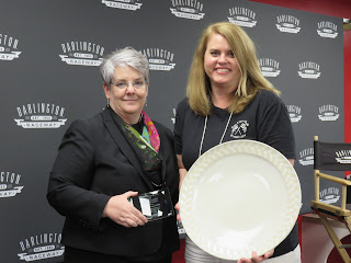 SC AHEC Executive Director Ann Lefebvre presents Emily Warren with the Ambassador Award