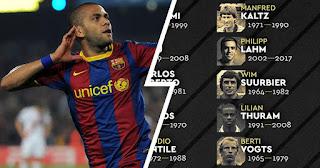Barcelona legend Dani Alves hit at France Football for snubbing him for best right-back of all time award