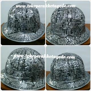 helm logam alumunium ukir pertambangan