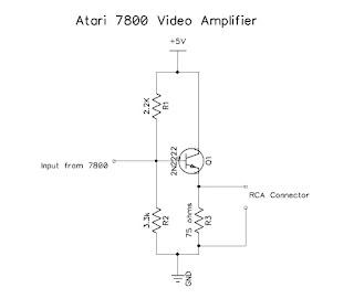 Video amplifier schematic