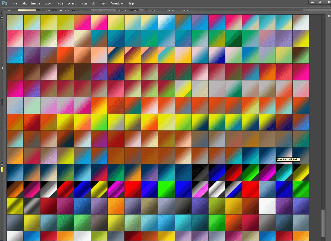 مجموعة رائعة التدرجات اللونية