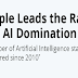 Apple Leads the Race for AI Domination #infographic