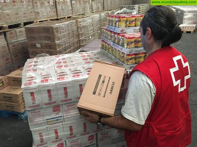 Cruz Roja distribuye más de 455 toneladas de alimentos en la provincia tinerfeña